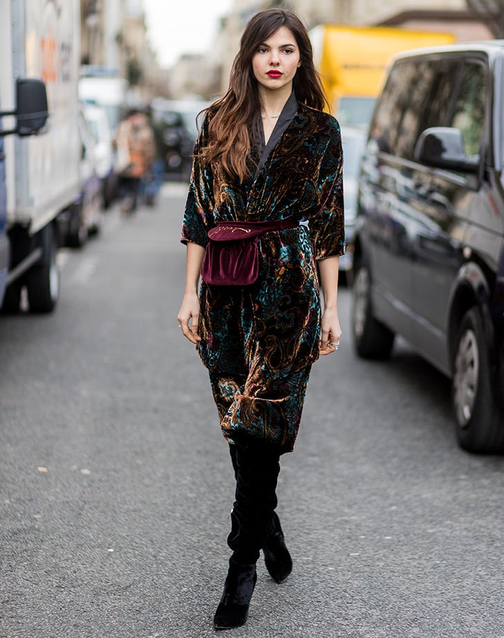 wear all velvet december outfit ideas