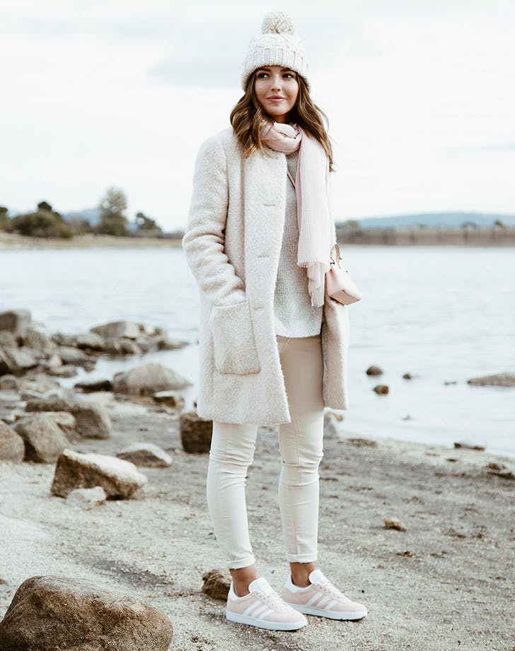 wear all white december outfit ideas