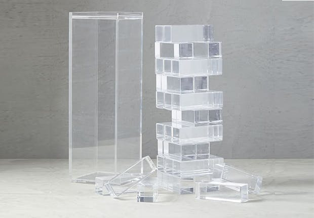 west elm clear deco stacking set