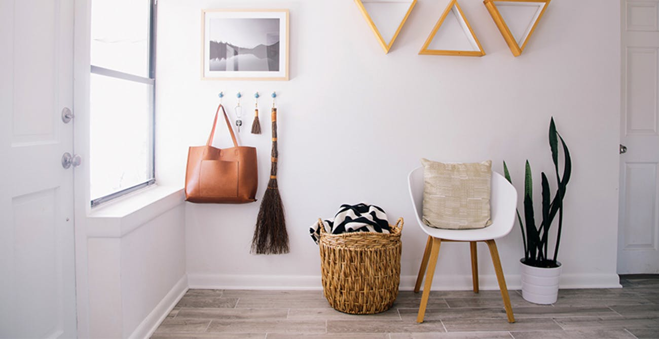 white entryway home