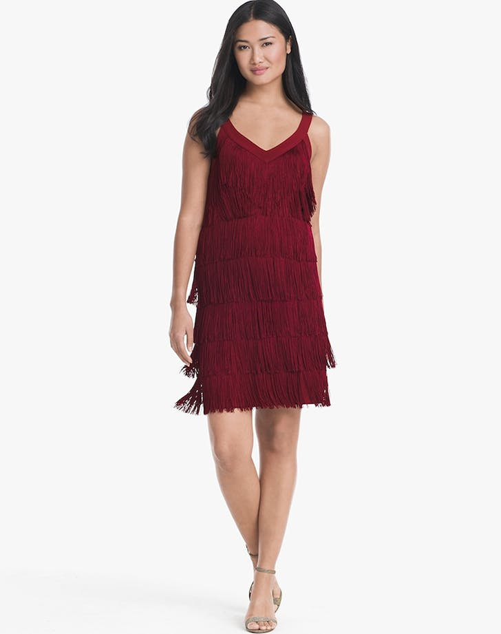 white house black market fringe holiday dresses