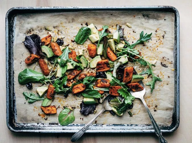 whole30 sheet pan roast carrot salad 501