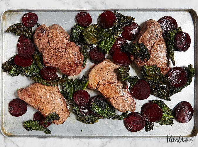 whole30 sheet pan steak kale beets 501