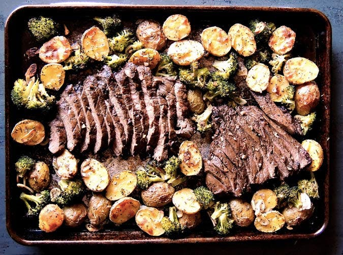 whole30 sheet pan steak potatoes broccoli 501