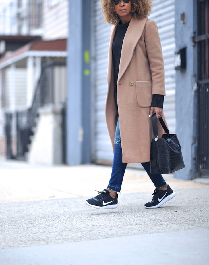 winter outfits camel coat