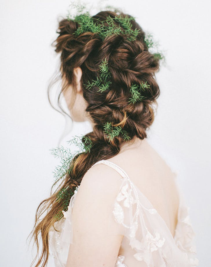 winter braids pine sprigs