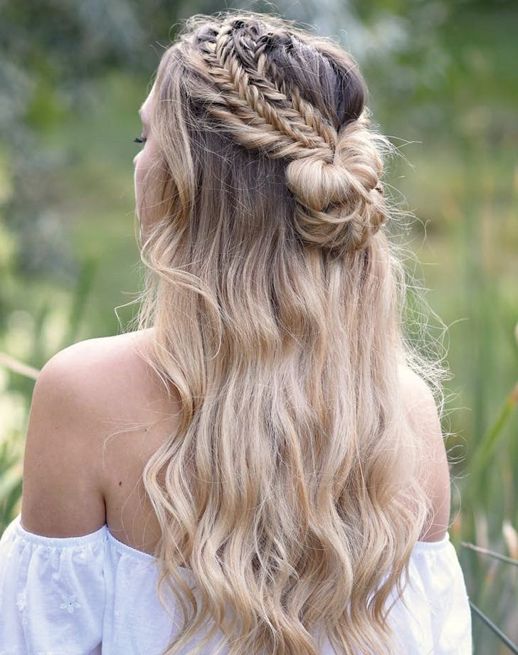 winter braids waterfall
