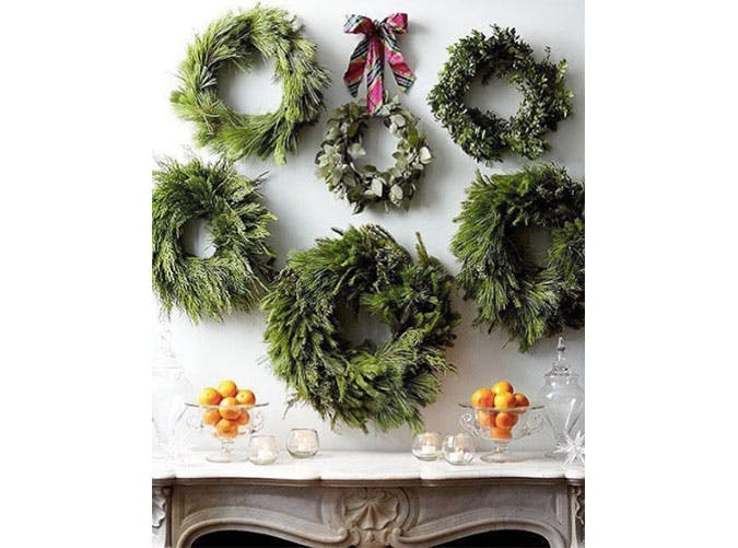 wreathwall holiday decor.