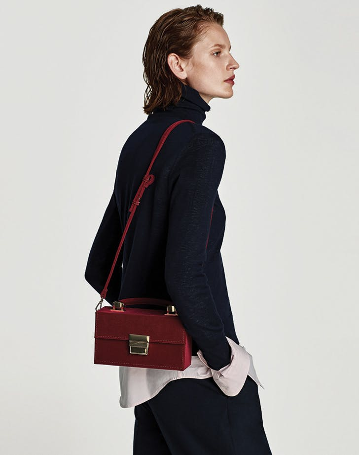zara corduroy bag