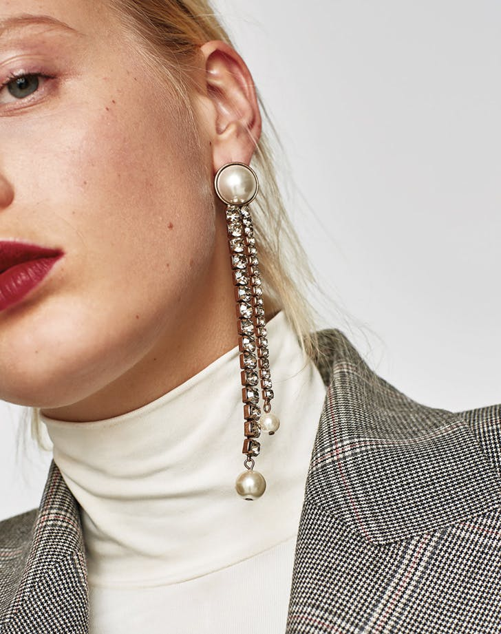 zara long earrings