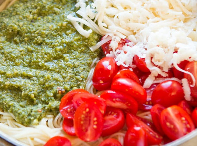 20 Minute Cheesy Pesto Pasta lazy dinner recipes