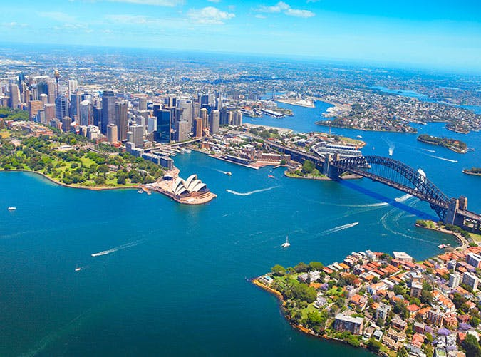 Aerial view of Sydney in Australia