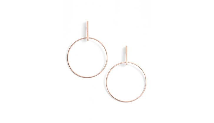 Argento Vivo Gold Hoops