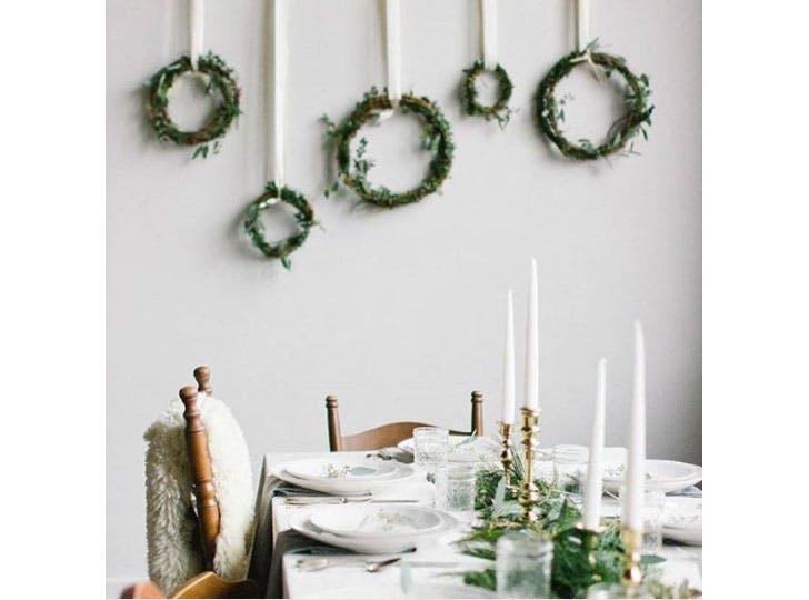 Au naturel Christmas table decoration idea1
