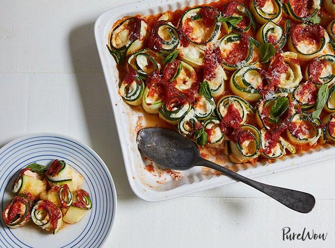 Baked zucchini ziti recipe