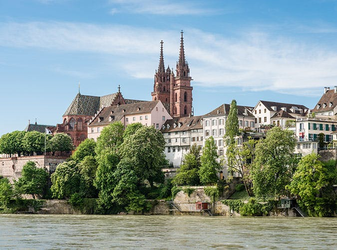 Basel Cathedral in Switzerland