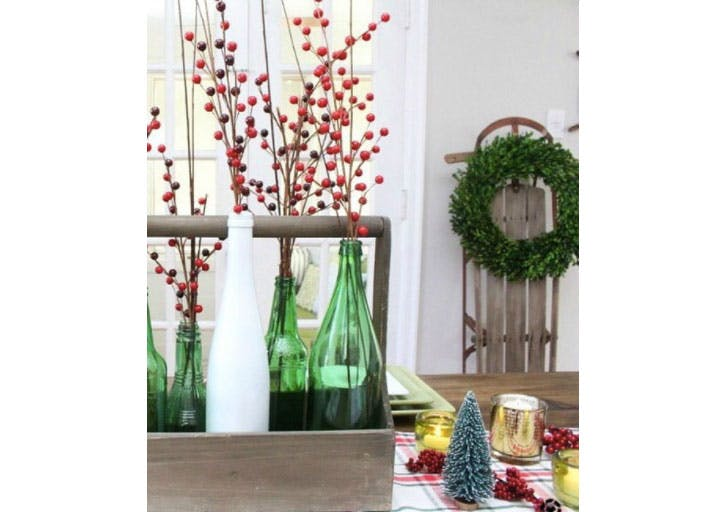 Boughs of holly Christmas tablescape1
