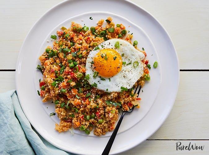 Cauliflower Fried Rice vegetarian clean eating recipe