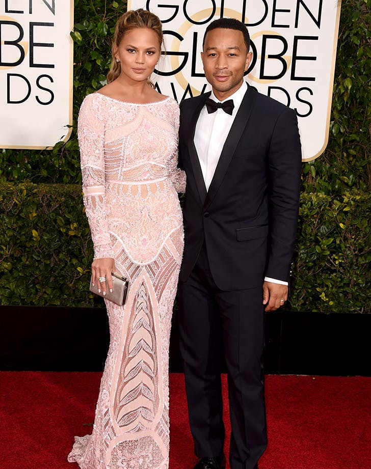 Chrissy Teigen John Legend best dressed golden globes