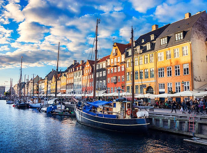 Copenhagen old Town Nyhavn at Sunset