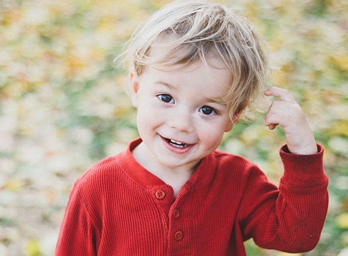 Cute Danish baby boy