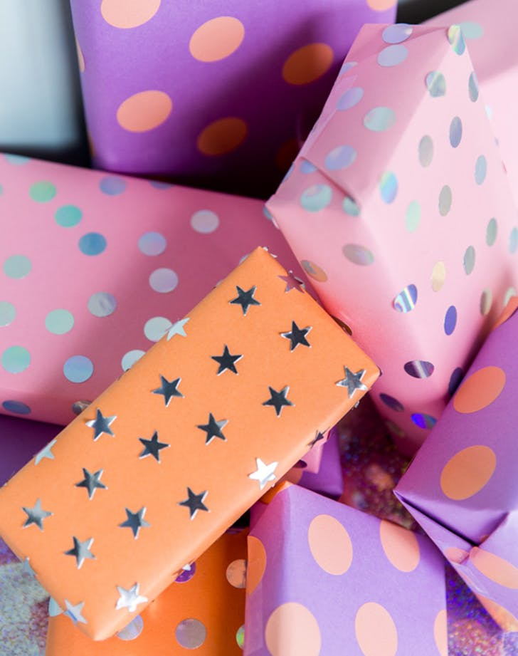DIY kid wrapping paper ideas 5