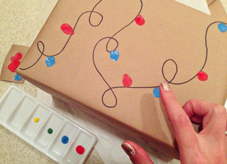 DIY kid wrapping paper ideas 6