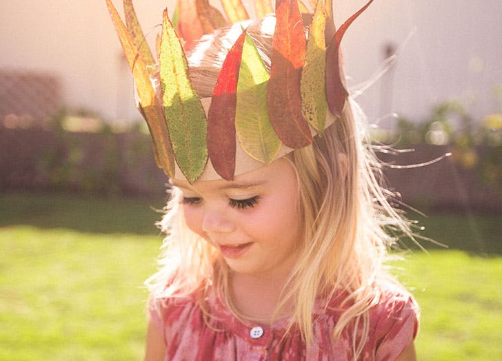 Danish girl wearing crown on her head