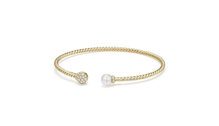 David Yurman Pearl and Diamond Bracelet