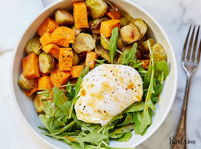 Egg and Veggie Breakfast Bowl vegetarian clean eating recipes