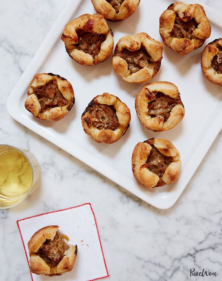 French onion cups easy New Years Even appetizer recipe