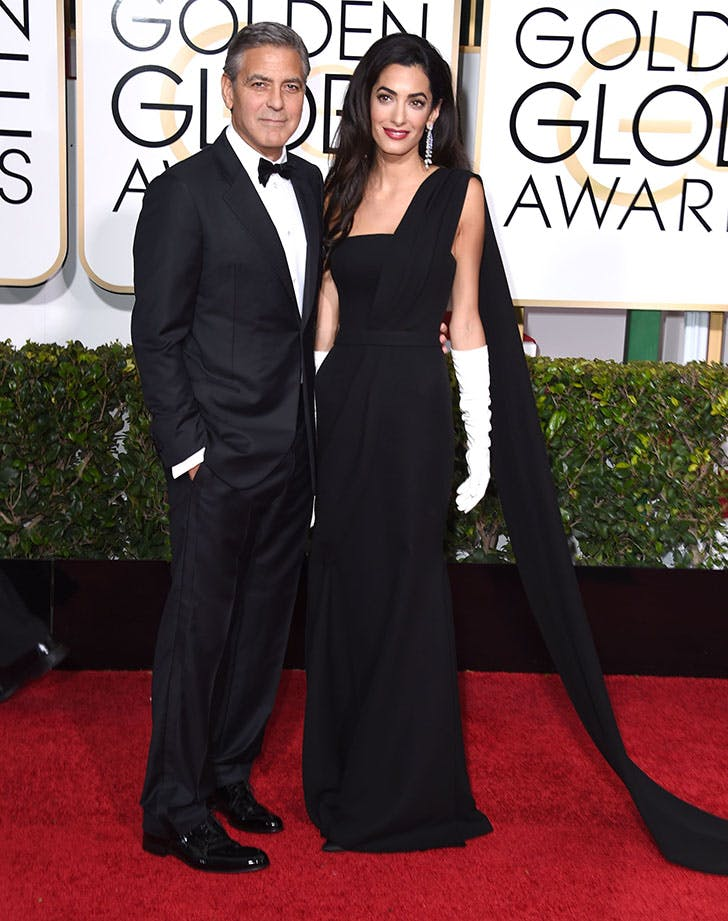 George and Amal Clooney Golden Globes1