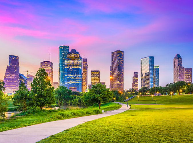 Houston  Texas  USA downtown city skyline