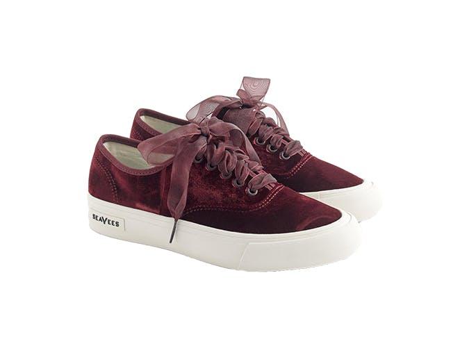 J.Crew Seavees velvet sneakers