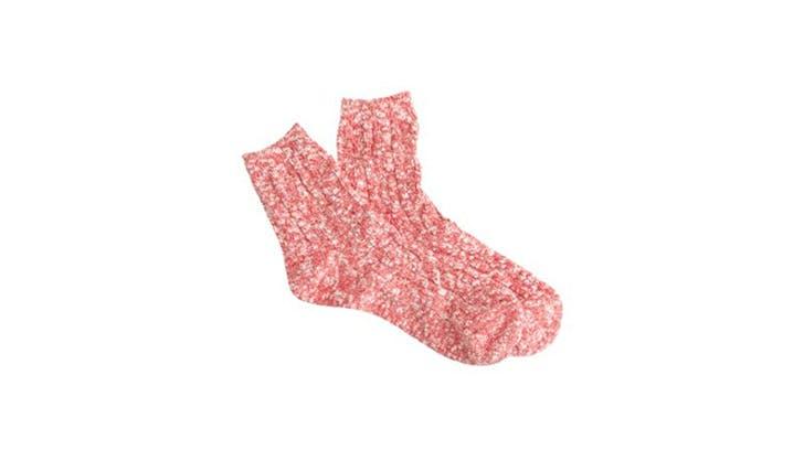 J.Crew red marled socks