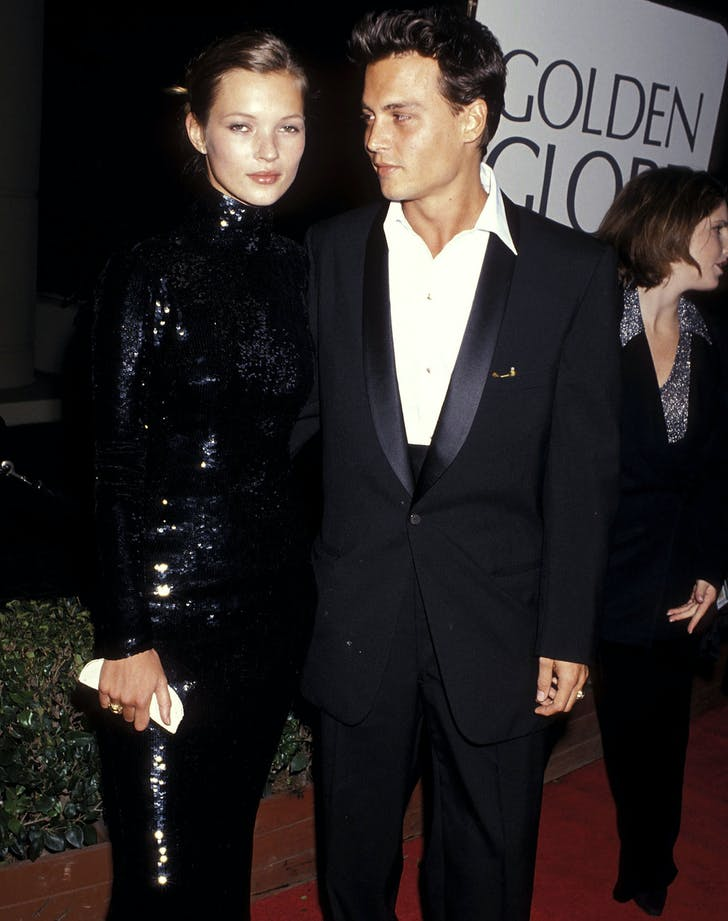 Kate Moss Johnny Depp best dressed golden globes couple