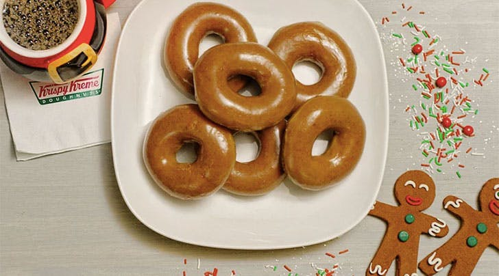 Mark Your Calendars: Krispy Kreme Is Making a Gingerbread Glazed Doughnut for One Day Only