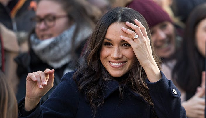 Meghan Markle First Public Outing Engagement Ring