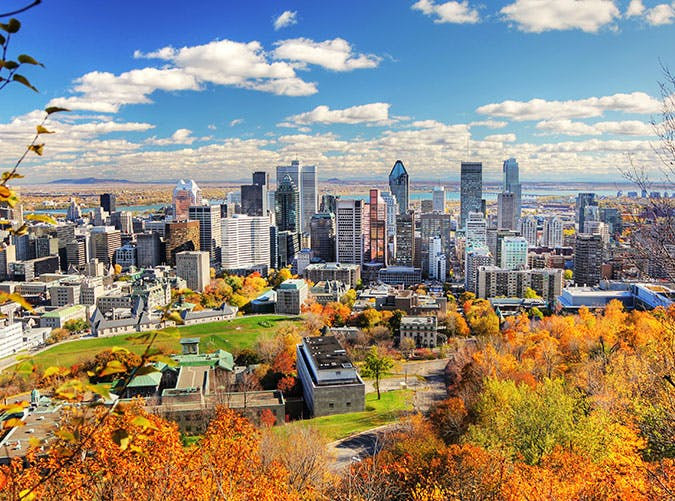 Montreal City  Canada in the fall