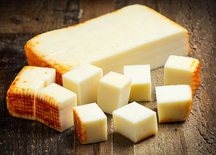 Muenster cheese cubes