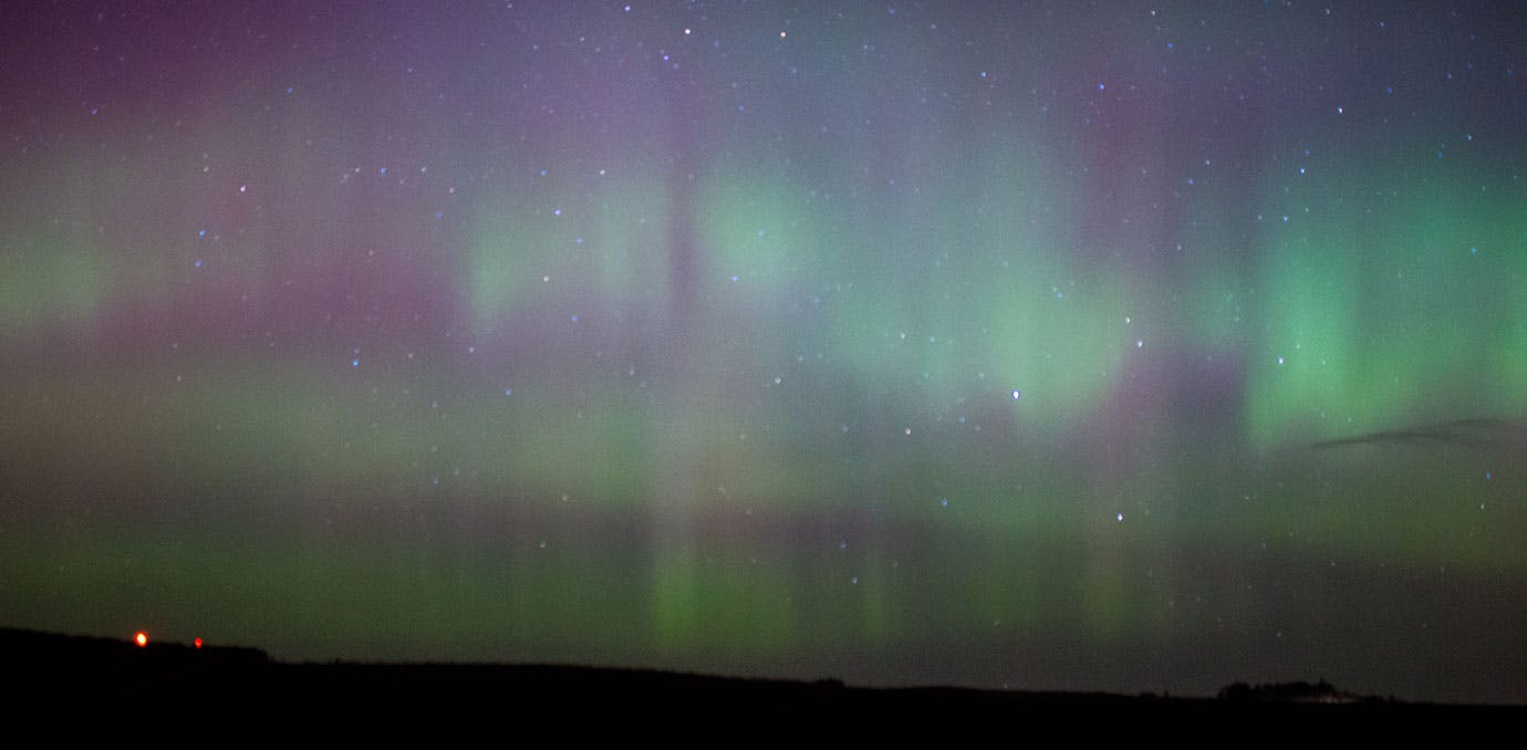 Northern Lights in Cairngorms National Park Scotland
