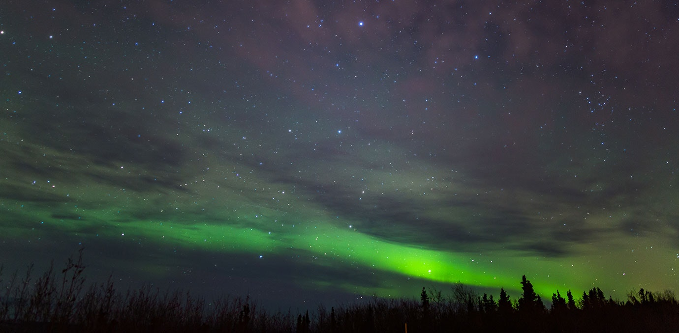 Northern Lights In Fairbanks Alaska In The United States