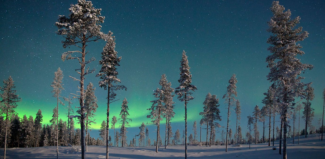 Northern Lights in Kiruna in Sweden