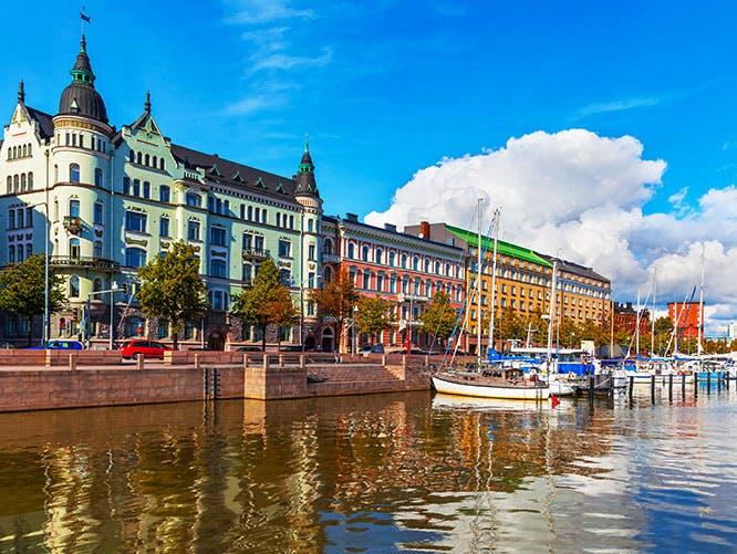 Old Town pier in Helsinki  Finland