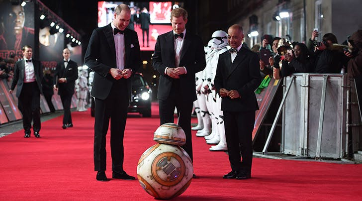 Prince Harry & Prince William Rolled on Down the Red Carpet With this 'Star Wars' Cutie