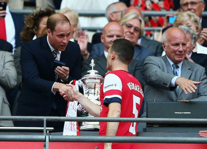 Prince William FA Cup Arsenal