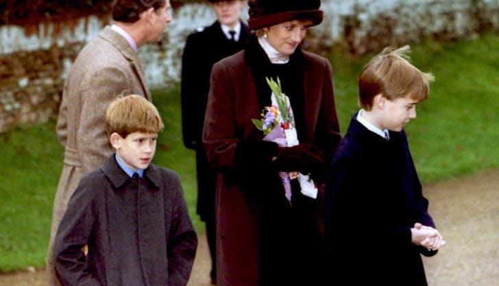Prince William Harry Princess Diana Sandringham