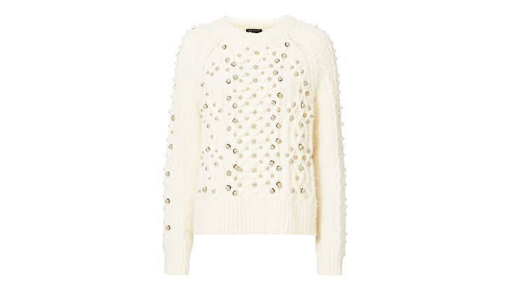 Rag   Bone Pearl Embellished Sweater