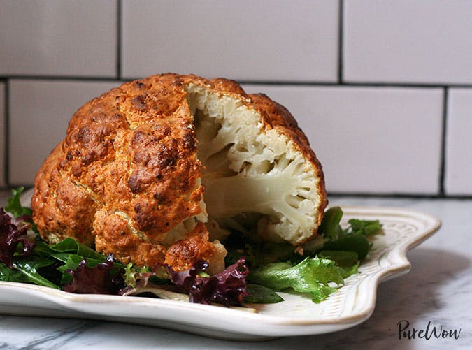 Roasted Cauliflower Clean Eating Dinner recipe