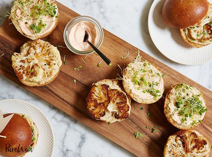 Roasted Cauliflower Sliders vegetarian clean eating recipes
